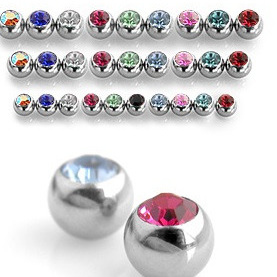 14g - 10g Externally Threaded Jeweled Ball