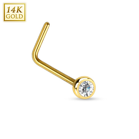 14k Gold Nose Studs