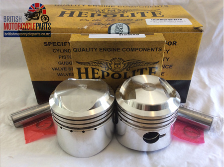 15123/040 Triumph 500cc Pistons & Ring Sets .040 - 1958-67