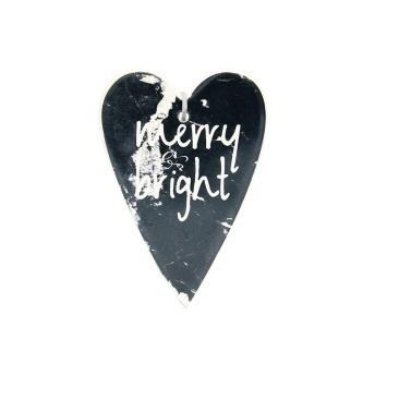 15cm Eveline Merry & Bright Heart Deco