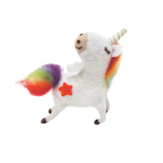 16cmh Xmas Wool Decoration-Sm Unicorn