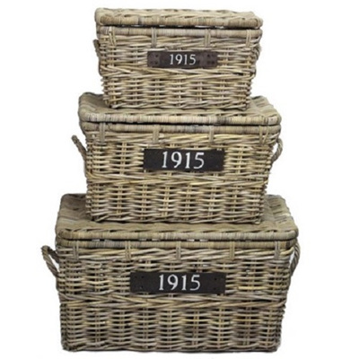 1915 Brand - Storage Baskets w Lids