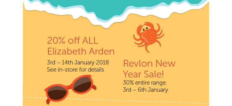 20% off ALL Elizabeth Arden PLUS the Revlon New Year Sale!