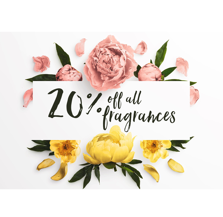 20 percent off fragrance