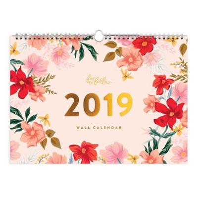 2019 12 Month Florentine Wall Calendar