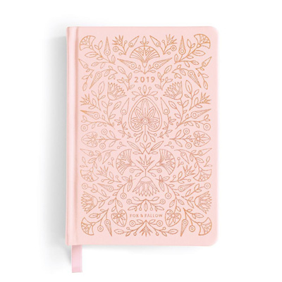 2019 Rose Quartz Vegan Leather Planner