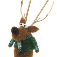 20cmh Xmas Wool Decoration-Sm Reindeer