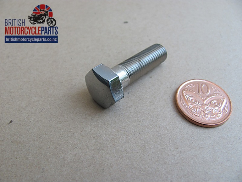 21-0589 Handlebar Pinch Bolt - Chrome Plated T120 T140 OIF T160 - British Parts