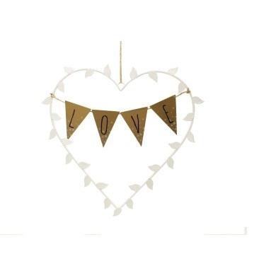 21cm Klara Love Bunting Heart Deco