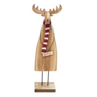 25cmh Rupert Reindeer Xmas Deco