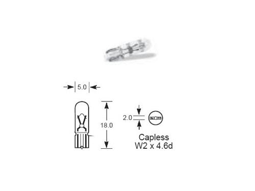 286 Lucas 12v 1.2W Capless Bulb LLB286