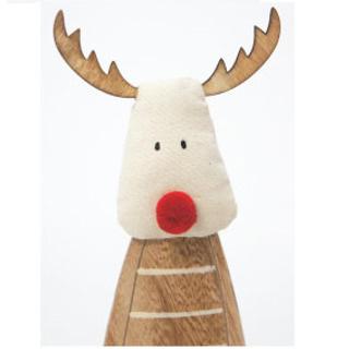 28cmh Roger Reindeer Xmas Deco