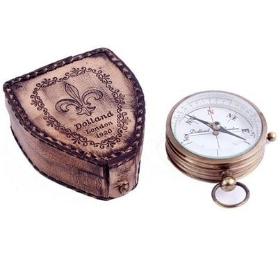 """3"""" Compass w Leather Case"""