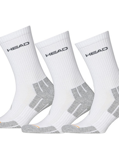 3 Pack HEAD socks- white