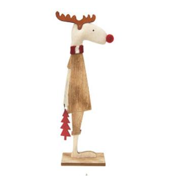 30cmh Mr Reindeer Xmas Deco