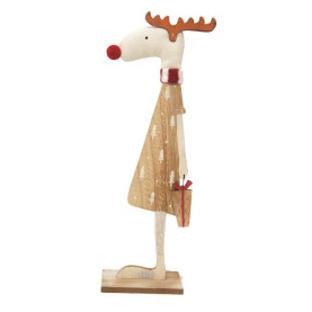 30cmh Mrs Reindeer Xmas Deco