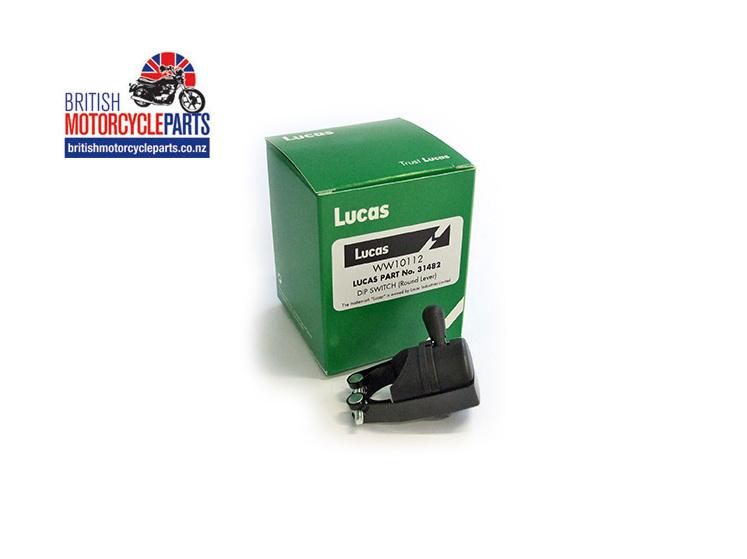 31482 Lucas Dip Switch - Round Lever - Classic BSA Norton Triumph Parts - NZ