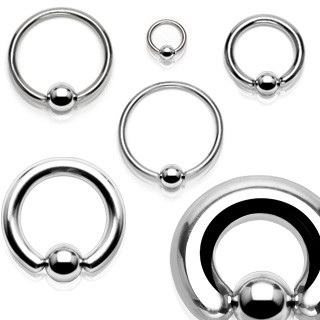 316L Surgical Steel Captive Bead Ring