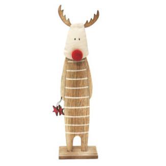 35cmh Roger Reindeer Xmas Deco