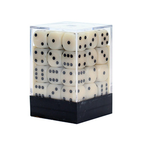 36 Ivory and Black Chessex six sided dice Games and Hobbies NZ New Zealand