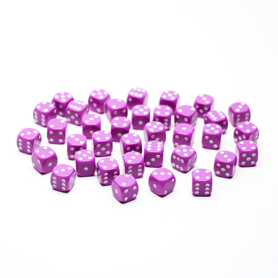 36 Light Purple with White spots six sided dice Games and Hobbies NZ New Zealand