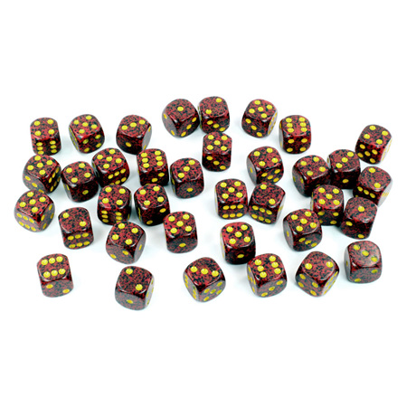 36 'Mercury' Speckled Six Sided Dice (12mm)