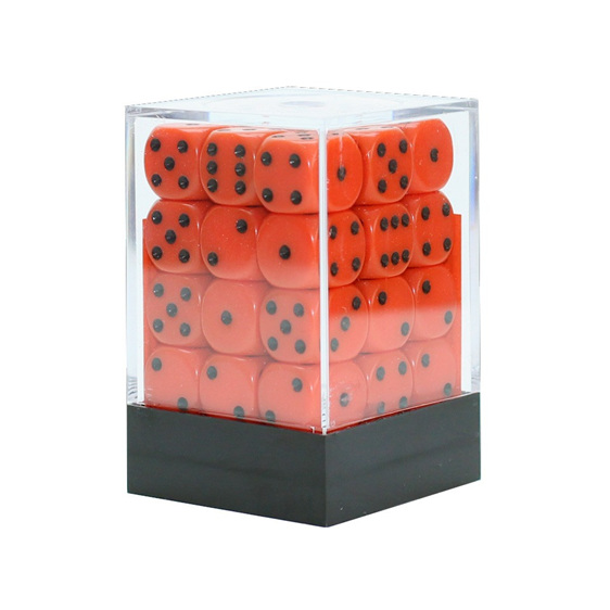 36 Orange and Black six sided dice NZ New Zealand