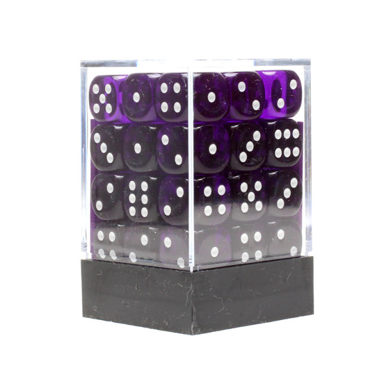 36 Purple and White Translucent six sided dice Games and Hobbies NZ New Zealand