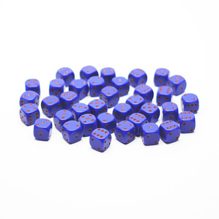 36 Purple and Red Six Sided Dice (12mm)