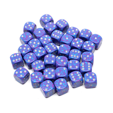 36 'Silver Tetra' Speckled Six Sided Dice (12mm)