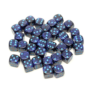 36 'Cobalt' Speckled Six Sided Dice (12mm)