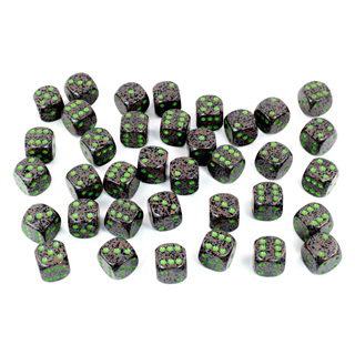 36 'Earth' Speckled Six Sided Dice (12mm)