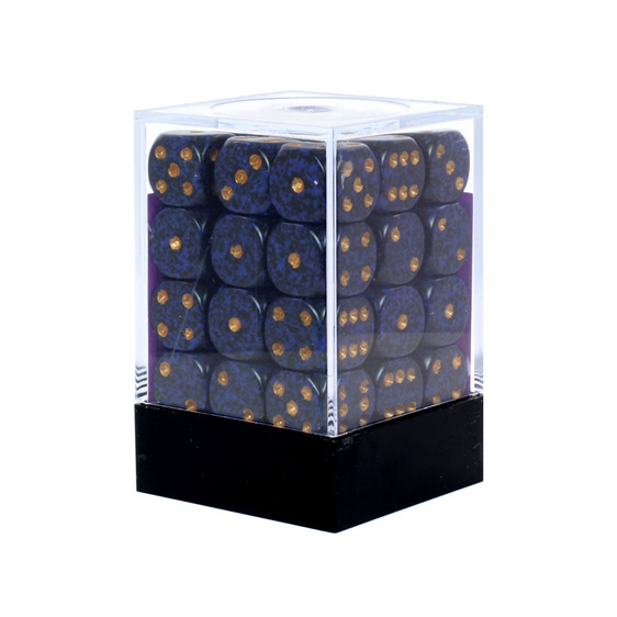 36 Speckled 'Golden Cobalt' six sided dice Games and Hobbies NZ New Zealand
