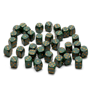 36 'Golden Recon' Speckled Six Sided Dice (12mm)