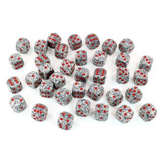 36 'Granite' Speckled Six Sided Dice (12mm)
