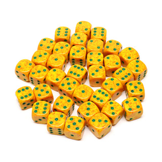 36 'Lotus' Speckled Six Sided Dice (12mm)