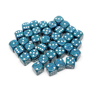 36 'Sea' Speckled Six Sided Dice (12mm)