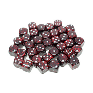 36 'Silver Volcano' Speckled Six Sided Dice (12mm)