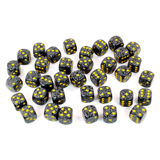 36 'Urban Camo' Speckled Six Sided Dice (12mm)