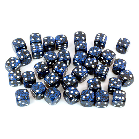 36 'Stealth' Speckled Six Sided Dice (12mm)