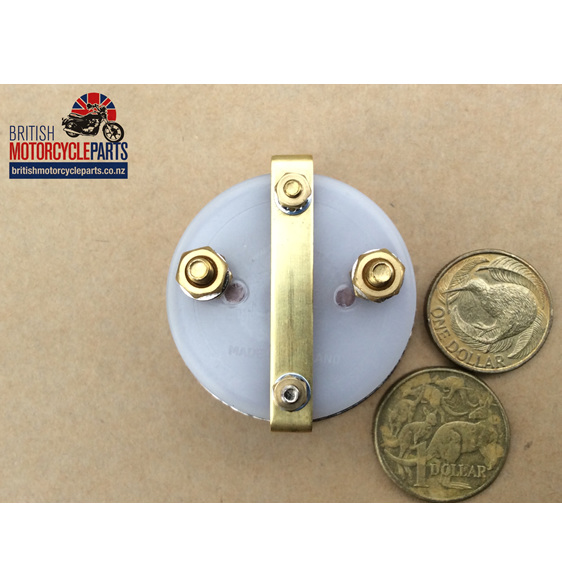 36084 Ammeter - Black Face 8-0-8  - British motorcycle Parts - Auckland NZ