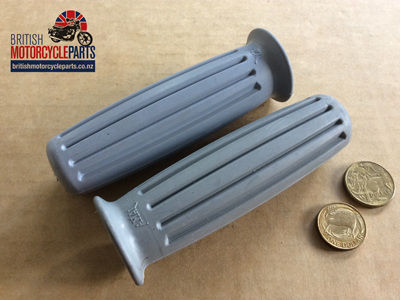 366/011/012 Amal Handlebar Grips 1966 Grey - Genuine