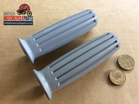 366/011 366/012 Amal Handlebar Grips Grey 1966 - British Motorcycle Parts NZ