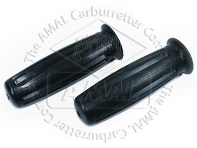 366/011/012 Amal Handlebar Grips - 1966 Black Genuine