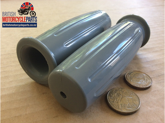 366/011A 366/012A Handlebar Grips - T120 1966 Grey - Pattern366 - British Parts