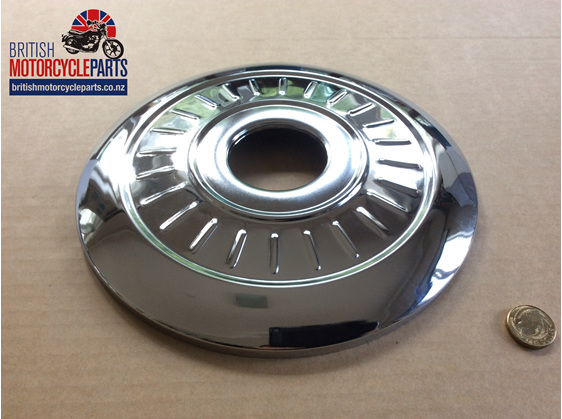 """37-1332A Cover Plate 8"""" 24 Indents - British Motorcycle Parts Ltd - Auckland NZ"""
