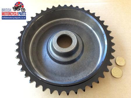 37-1376 Brake Drum Sprocket 43T - Triumph QD