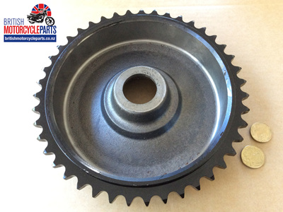37-1376 Brake Drum Sprocket 43T - Triumph QD