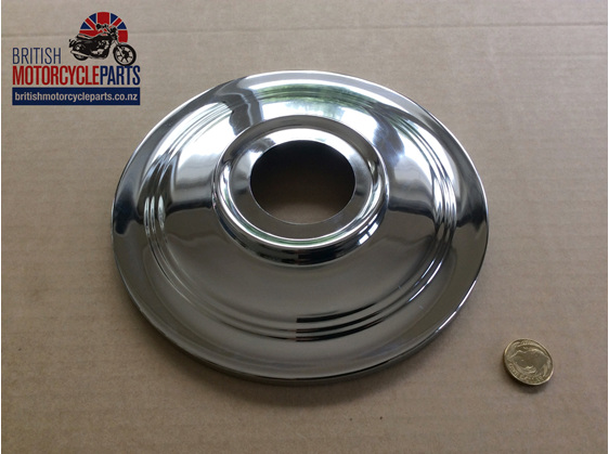 "37-3443 Hub Cover Plate 7"" - British Motorcycle Parts Ltd - Auckland NZ"