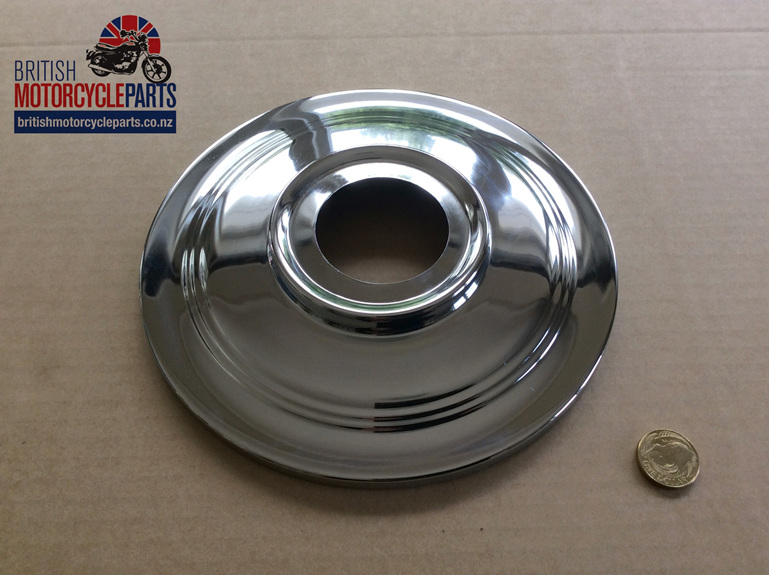 """37-3443 Hub Cover Plate 7"""" - British Motorcycle Parts Ltd - Auckland NZ"""